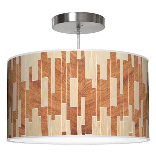 Drum 2 Pendant Shade Color: Oak / Mahogany, Size: 9