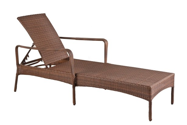 Key Biscayne Reclining Chaise Lounge with Cushion Color: Dolce Mango