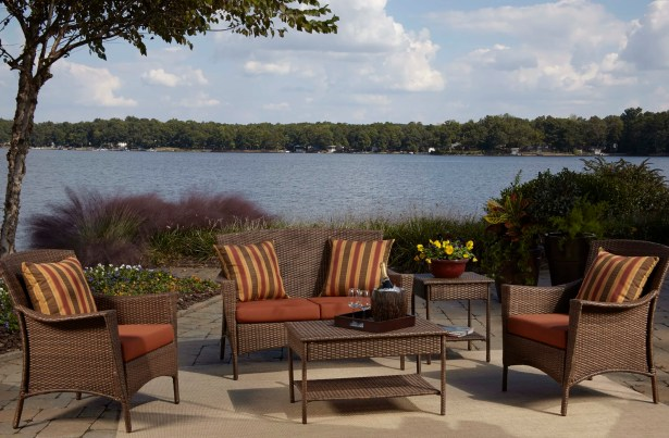 Key Biscayne 5 Piece Sofa Seating Group with Cushions Fabric: Canvas Taupe