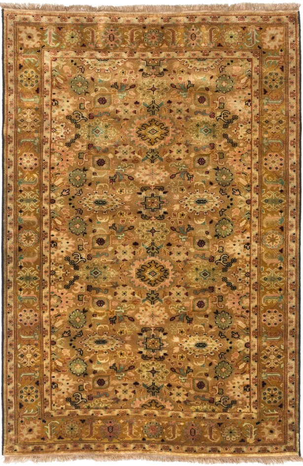 Doggett Hand-Knotted Brown/Ivory Area Rug