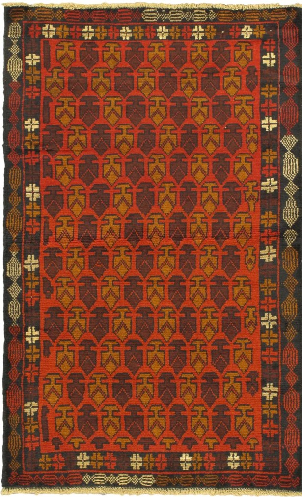 One-of-a-Kind Ditto Wool Hand-Knotted Red Area Rug