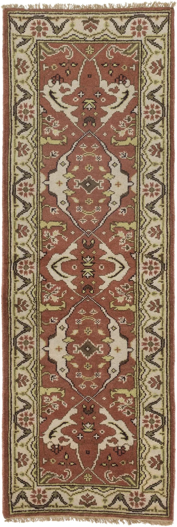 One-of-a-Kind Doggett Hand Knotted Wool Dark Orange/Red Area Rug
