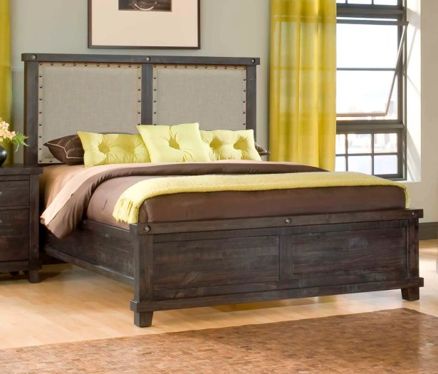 Langsa Upholstered Wood Platform Bed Color: Cider, Size: California King