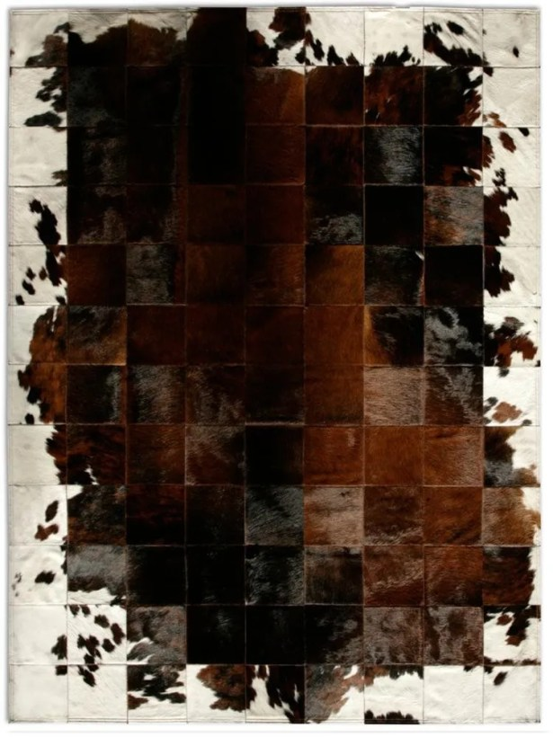 Patchwork Cowhide Park Corbu Brown Area Rug Rug Size: Rectangle 8' x 10'