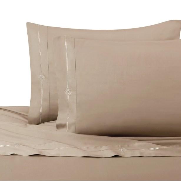 Memento Swarovski� Sheet Set Size: King, Color: Taupe
