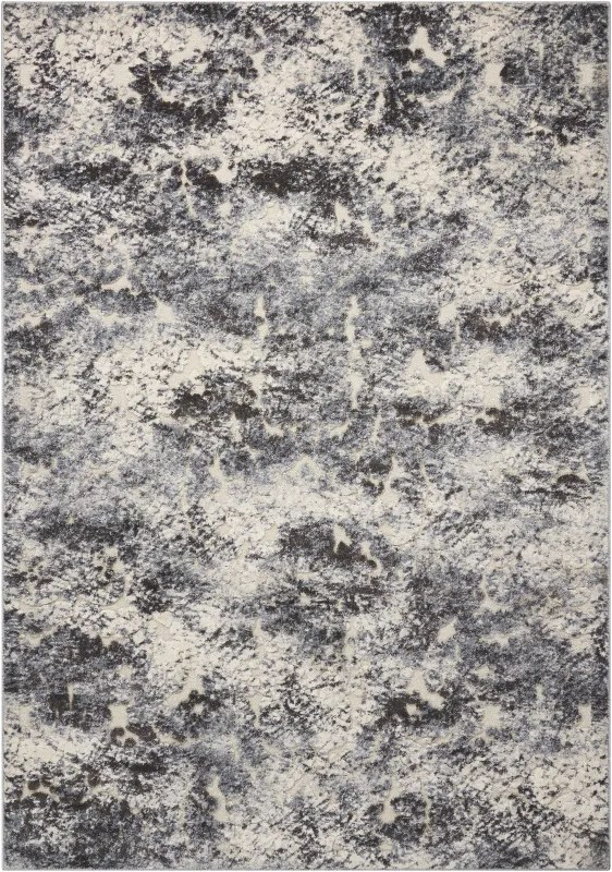 Gleam Ivory/Slate Area Rug Rug Size: Rectangle 9'3