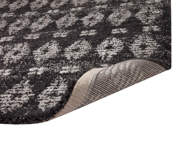 Adamsburg Shag/Flokati Synthetic Charcoal/Natural Indoor Area Rug Rug Size: Rectangle 7'10