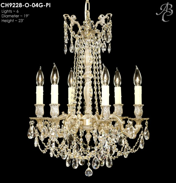 Biella 6-Light Candle Style Chandelier Finish: Silver, Crystal: Precision Crystal French Pendaloque Clear