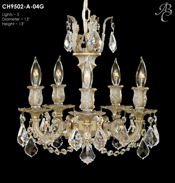 Rosetta 5-Light Candle Style Chandelier Crystal: Precision Crystal French Pendaloque Clear, Finish: Old Bronze Semi Gloss