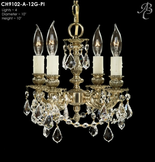 Biella 4-Light Candle Style Chandelier Finish: Aged Bronze Semi Gloss, Crystal: Precision Crystal French Pendaloque Clear