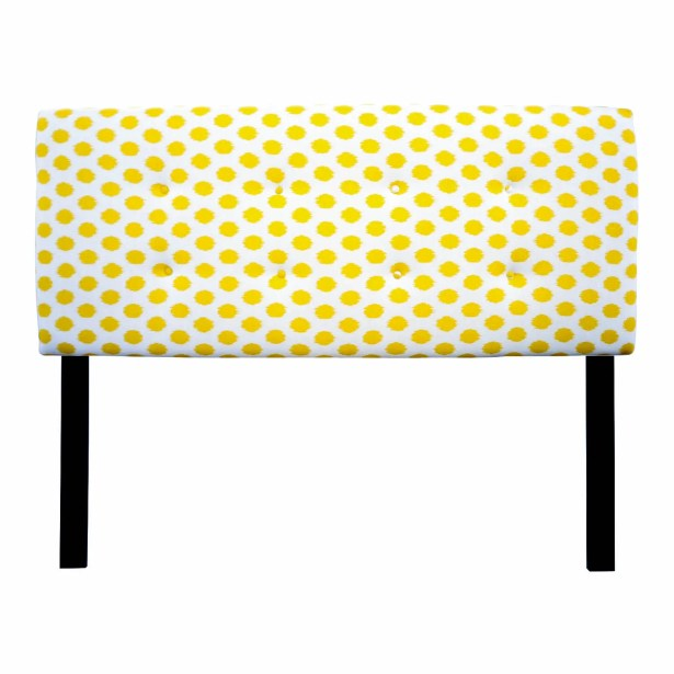 Ali Eastern King Upholstered Panel Headboard Upholstery: Jojo Yellow