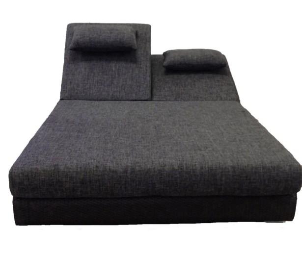 Sumba Double Sun Lounge with Cushions Fabric: Sunbrella Vellum