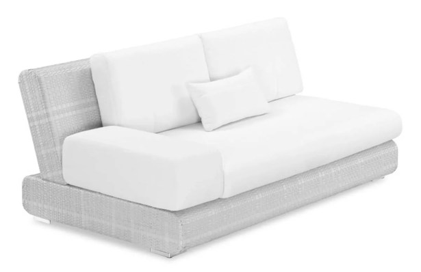 Sumba Loveseat with Cushions Loveseat Fabric: Sunproof White