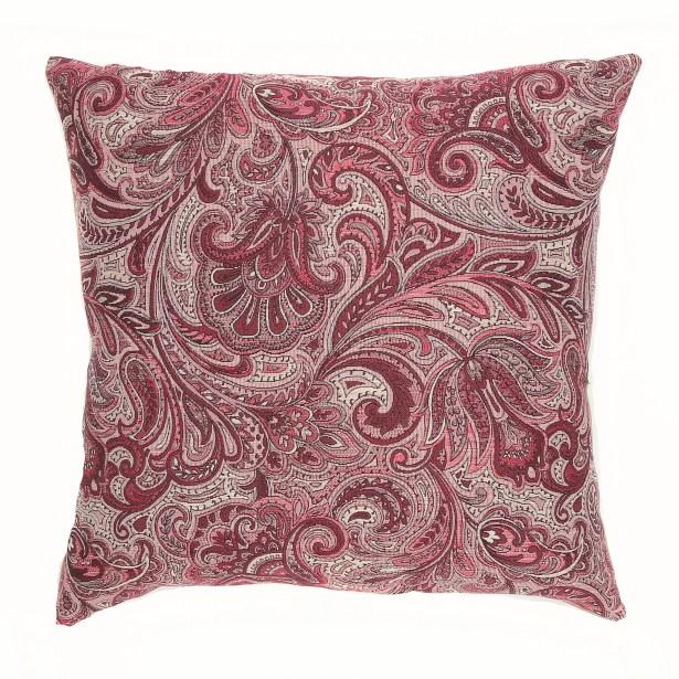 Monticello Throw Pillow Color: Chambord