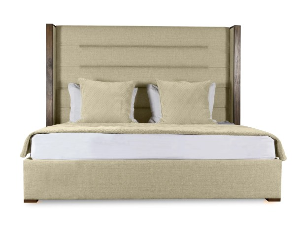 Hank Upholstered Panel Bed Size: High Height California King, Color: Sand