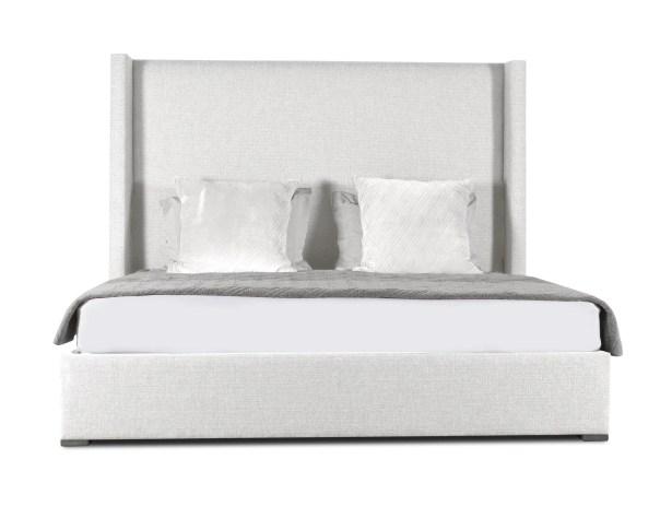 Hansen Plain Upholstered Panel Bed Size: Mid Height King, Color: White