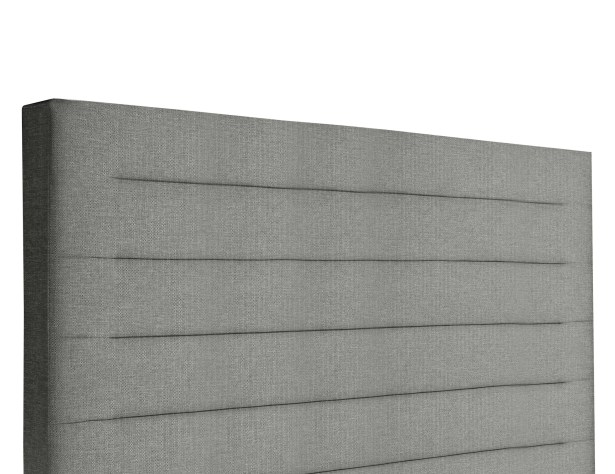 Handley Horizontal Channel Tufting Upholstered Wingback Headboard Color: Gray, Size: High Height California King