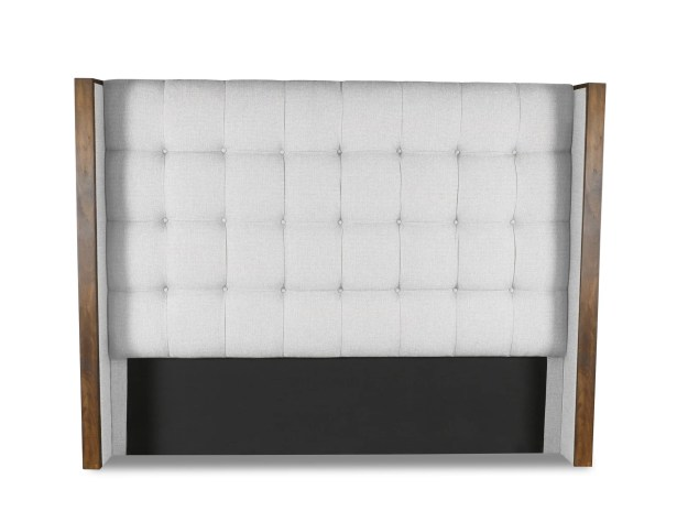 Hank Box Tufting Upholstered Wingback Headboard Size: High Height King, Color: White