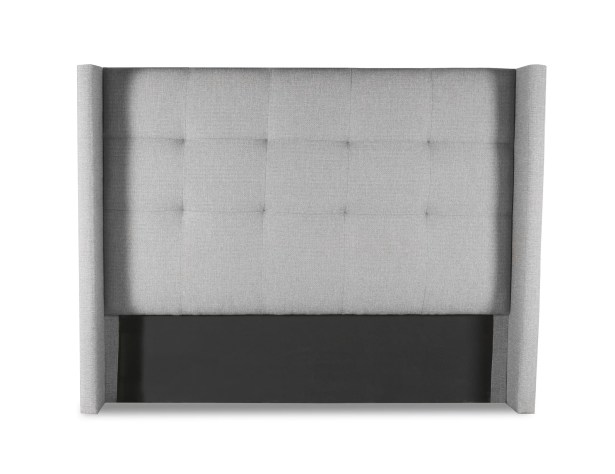 Hansen Button Tufted Upholstered Wingback Headboard Color: Gray, Size: Mid Height California King