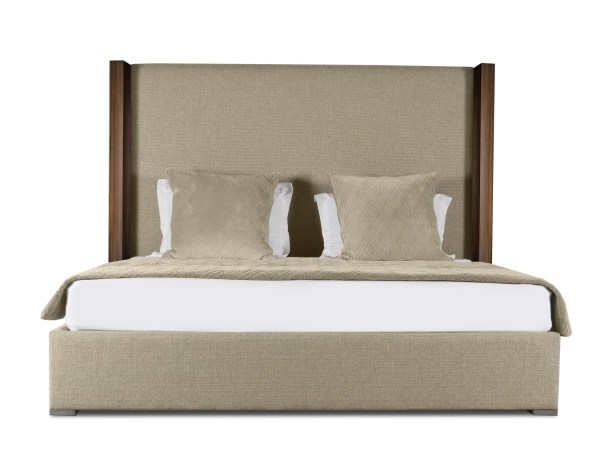 Harborcreek Plain Upholstered Panel Bed Size: Mid Height California King, Color: Sand