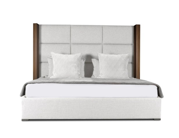 Harborcreek Upholstered Platform Bed Size: High Height California King, Color: White