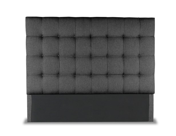 Esters Box Tufting Upholstered Headboard Size: High Height California King, Color: Charcoal