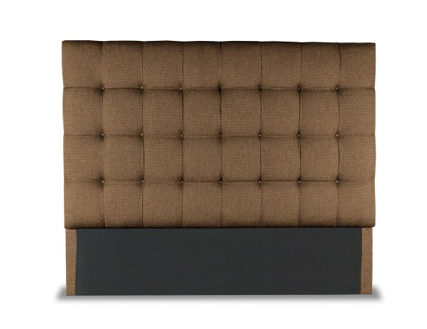 Esters Box Tufting Upholstered Headboard Size: High Height California King, Color: Brown