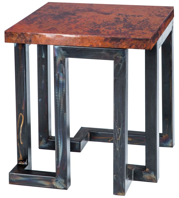 Serenity End Table Table Top Color: Natural Copper