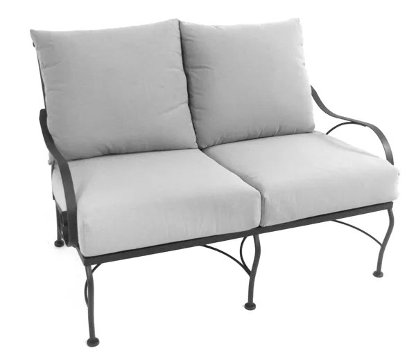 Monticello Deep Seating Loveseat with Cushion Fabric: Canvas Teak