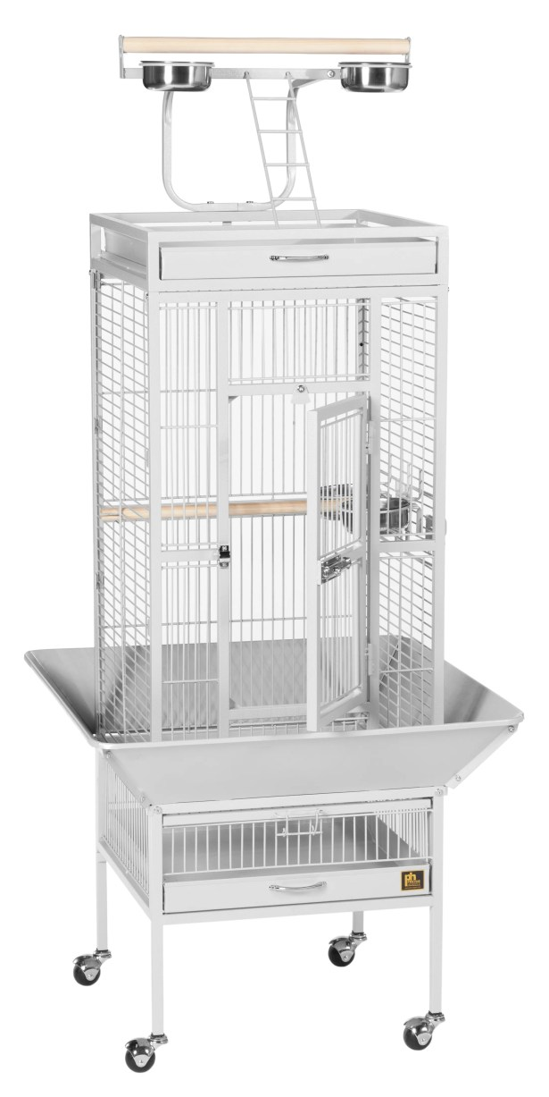 Elektra Bird Cage Color: Pewter, Size: X-Large