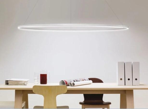 Ellisse Down Light Pendant Finish: White, Size: 27.56