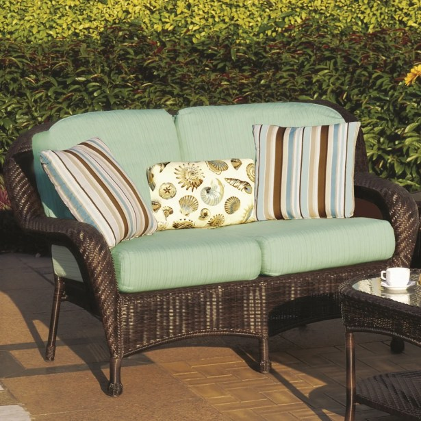 Emestine Key West Loveseat with Cushions Color: Sparkle Nautical