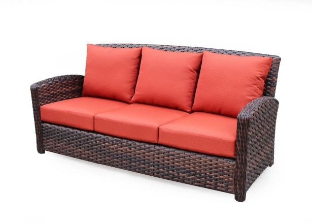 Remmers Sofa with Cushion Color: Canvas Crimson