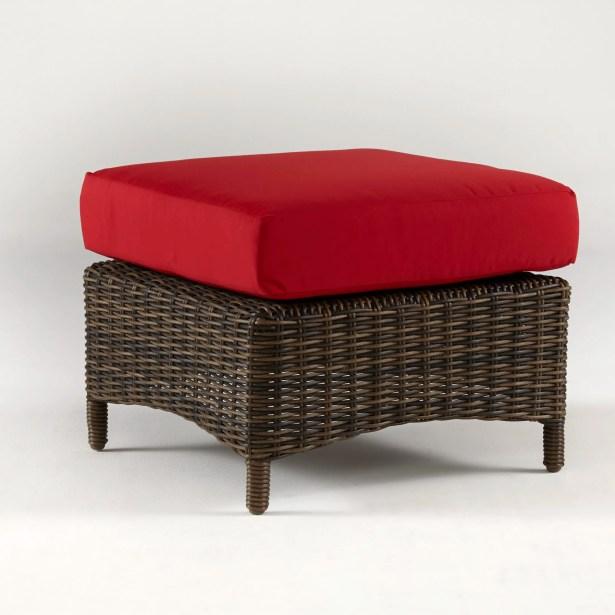 Satterwhite Ottoman with Cushion Fabric: Sparkle Nautical