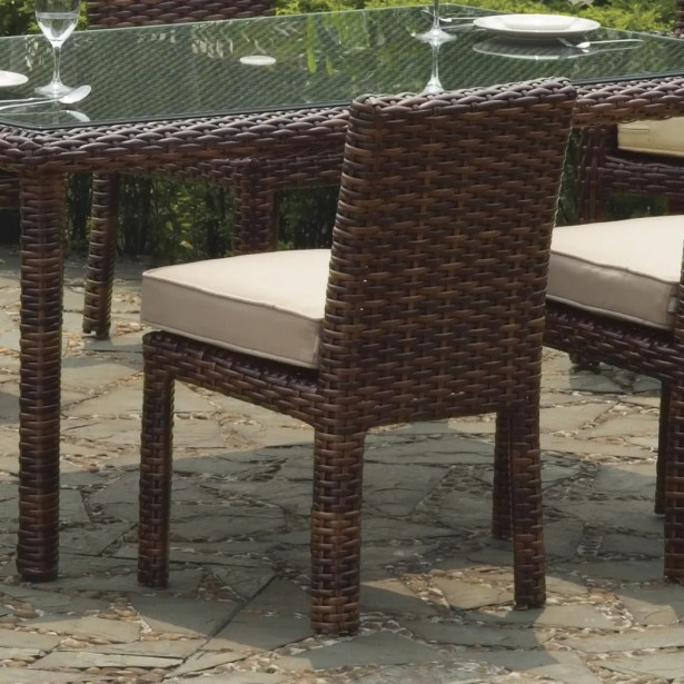 Losey 7 Piece Dining Set with Cushion Cushion Color: Sesame, Color: Espresso