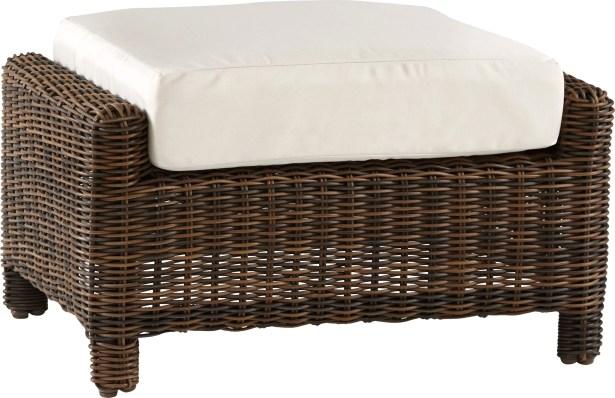 Spurlin Del Ray Ottoman with Cushion Fabric: Cornsilk