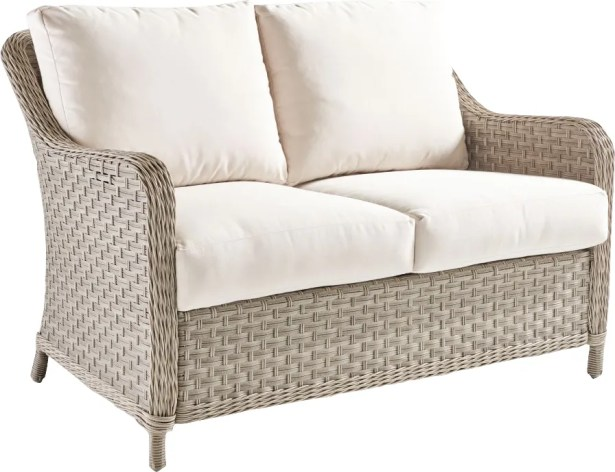 Keever Loveseat with Cushion Fabric: Canvas Khaki