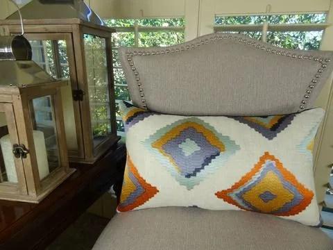 Native Trail Cayenne Handmade Linen Throw Pillow Size: 20