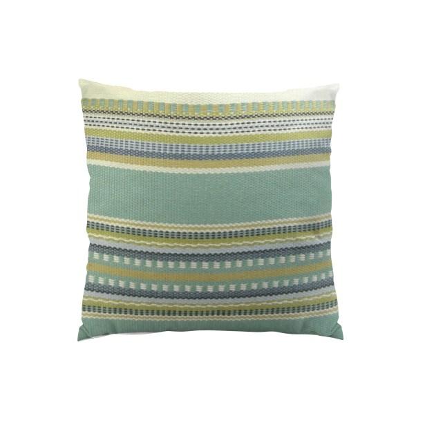 Chic Stripe Handmade Throw Pillow  Size: 18