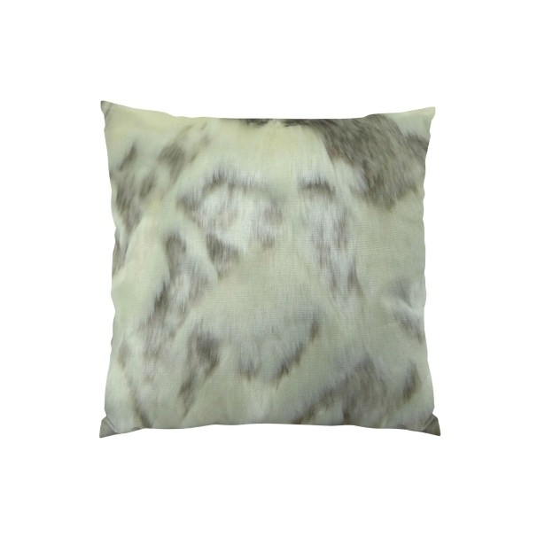 Rabbit Fur Handmade Throw Pillow  Size: 16