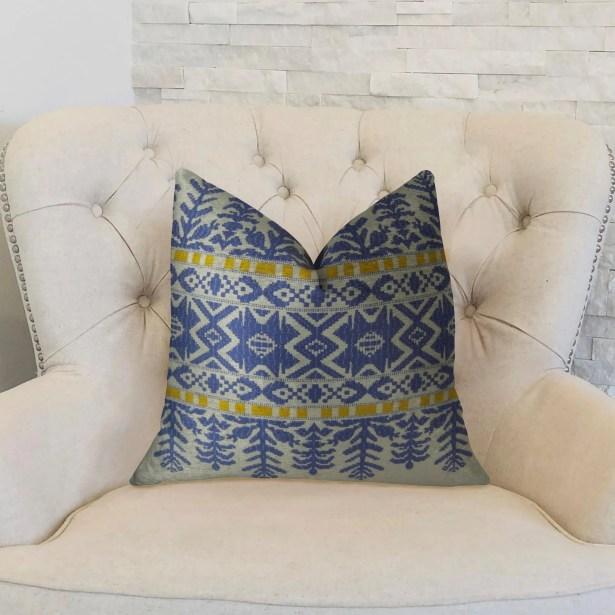 Aztec City Throw Pillow Size: 22