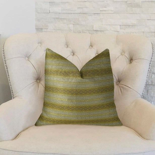 Full Stripe Handmade Throw Pillow  Size: 22