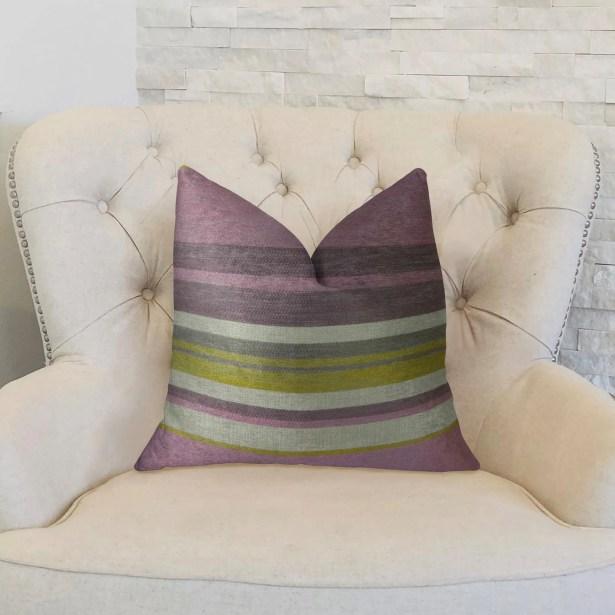 Berry Crush Handmade Throw Pillow Size: 22