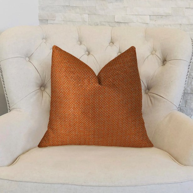 Lone Oak Cayenne Handmade Throw Pillow Size: 20