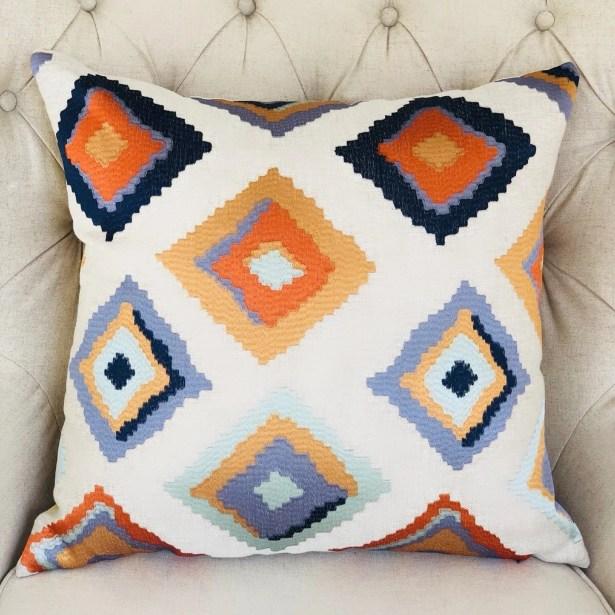 Robitaille Purple Handmade Linen Luxury Pillow Size: 20