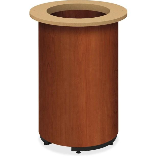 Preside Table Cylinder Base Finish: Cognac