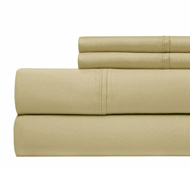 800 Thread Count 100% Cotton Sheet Set Color: Taupe, Size: Queen