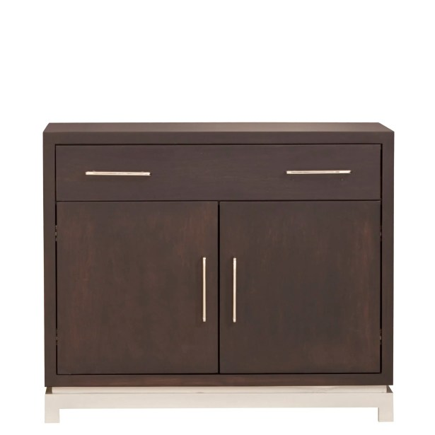 Classic Contemporary 1 Drawer Nightstand Wood Veneer: Painted Eco-MDF, Color: Green