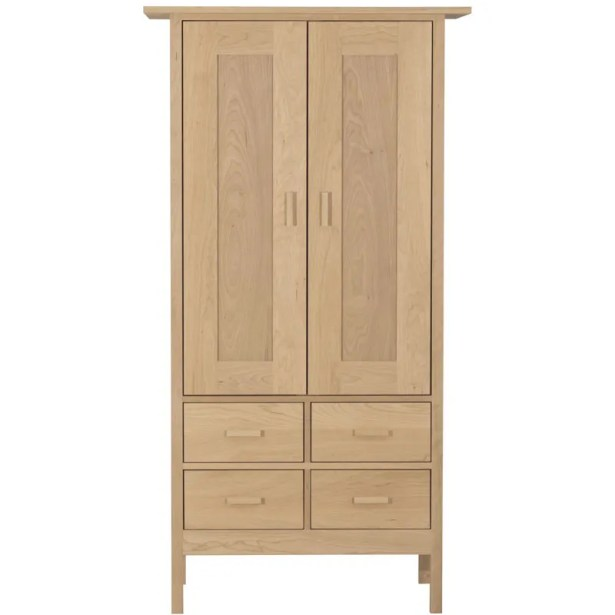 Cindy Armoire Wood Veneer: Walnut, Finish: Bleached