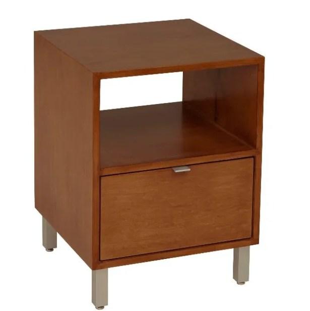 Southville 1 Drawer Nightstand Wood Veneer: Painted Eco-MDF, Color: Grey